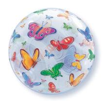 22 inch-es Pillangó Mintás - Butterflies Bubble Léggömb