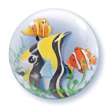 24 inch-es Trópusi Halak - Seaweed Tropical Fish Double Bubble Léggömb