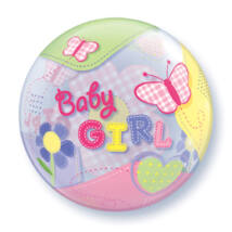 22 inch-es Baby Girl Butterflies Bubble Lufi Babaszületésre