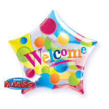 22 inch-es Welcome Big Dots - Pöttyös Csillag Alakú Bubble Lufi
