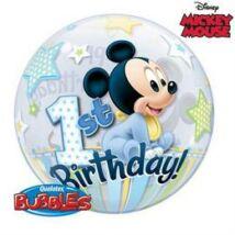 22 inch-es Disney Bubbles Mickey Mouse Első Szülinapi Lufi