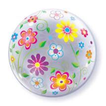 22 inch-es Tavaszi virág mintás bubble léggömb