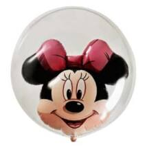 24 inch-es Disney Minnie Mouse Double Bubble Lufi