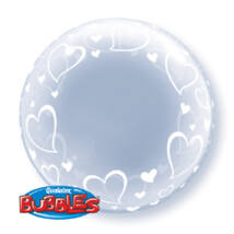 24 inch-es Stylish Hearts Szives Deco Bubble Léggömb