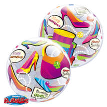 22 inch-es Birthday Girl Shopping Spree Szülinapi Bubble Lufi