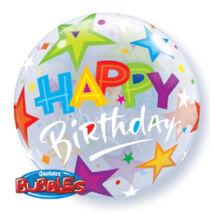 22 inch-es birthday brilliant stars születésnapi bubble léggömb