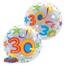 22 inch-es 30 Brilliant Stars Születésnapi Számos Bubble Léggömb