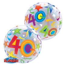 22 inch-es 40 Brilliant Stars Születésnapi Számos Bubble Léggömb