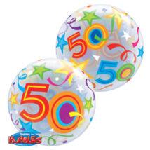 22 inch-es 50 Brilliant Stars Születésnapi Számos Bubble Léggömb