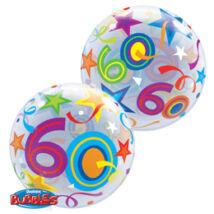 22 inch-es 60 Brilliant Stars Születésnapi Számos Bubble Léggömb