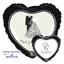 18 inch-es Tökéletes Pár - A Perfect Pair Esküvői Fólia Léggömb
