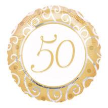 18 inch-es 50th Anniversary Házassági Évfordulóra Fólia Léggömb