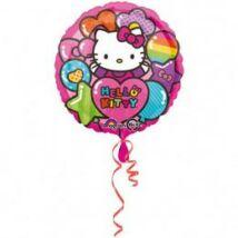 18 inch-es Hello Kitty Rainbow - Színes Vidám Fólia Lufi