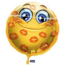18 inch-es Szerelmes Smile Fólia Lufi