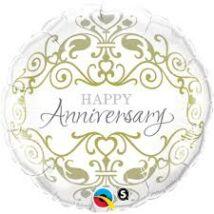 18 inch-es Happy Anniversary Fólia Lufi Évfordulóra