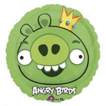 18 inch-es Angry Birds - Green King Pig a Király - Fólia Léggömb