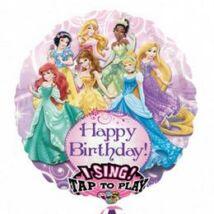 28 inch-es Hercegnők - Princesses Éneklő Szülinapi Fólia Lufi