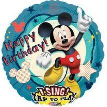 28 inch-es Mikiegér - Mickey Mouse Éneklő Szülinapi Fólia Lufi