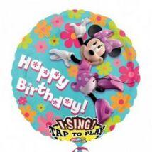 28 inch-es Minnie Egér - Minnie Mouse Éneklő Születésnapi Fólia Léggömb