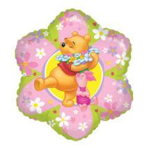 18 inch-es Micimackós - Friendly Flower (Winnie the Pooh) - Fólia Léggömb
