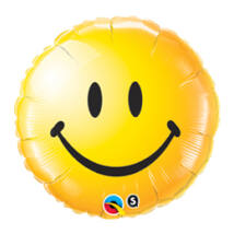 18 inch-es Sárga Mosolygós Arc - Smile Face Yellow Fólia Lufi