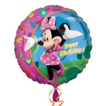 18 inch-es Minnie - Happy Birthday - Szülinapi Fólia Lufi