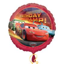 18 inch-es Verdák, Cars - Birthday Champ - Szülinapi Fólia Lufi