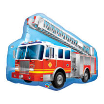 36 inch-es Tűzoltó Teherautós - Red Fire Truck Super Shape Fólia Lufi