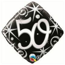 18 inch-es 50. Szülinap Számos Elegant Sparkles and Swirls Születésnapi Fólia Léggömb