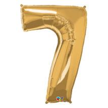 34 inch-es Number 7 Gold - Arany Számos Fólia Lufi