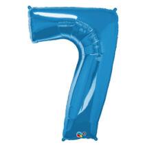 34 inch-es Number 7-es Sapphire Blue - Zafírkék Számos Fólia Léggömb