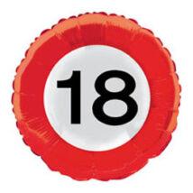18 inch-es 18-as Számos Sebességkorlátozó Születésnapi Fólia Léggömb