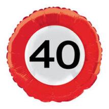 18 inch-es 40-es Számos Sebességkorlátozó Születésnapi Fólia Léggömb