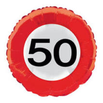 18 inch-es 50-es Számos Sebességkorlátozó Születésnapi Fólia Léggömb