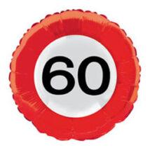 18 inch-es 60-as Számos Sebességkorlátozó Születésnapi Fólia Léggömb