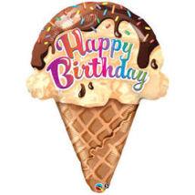 27 inch-es Fagyi Ice Cream Cone Fólia Lufi