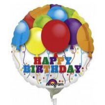 18 inch-es Bright Balloons Birthday Születésnapi Fólia Léggömb