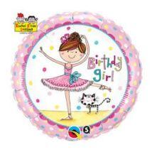 18 inch-es Rachel Ellen - Birthday Girl Ballerina Születésnapi Fólia Léggömb