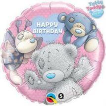 18 inch-es Blue Nose Friends Birthday - Macik Szülinapi Fólia Lufi
