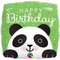 18 inch-es Mosolygó Panda Happy Birthday Szülinapi Fólia Lufi