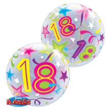 22 inch-es 18 Brilliant Stars Születésnapi Számos Bubble Léggömb