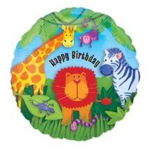 18 inch-es Dzsungel Állatok - Jungle Animals Happy Birthday Születésnapi Fólia
