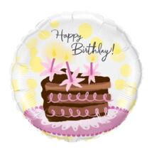 18 inch-es Csokitortás - Birthday Chocolate Cake Slice Születésnapi Fólia Léggömb