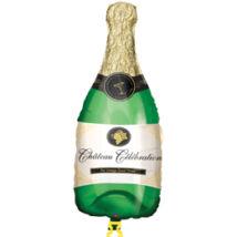 Pezsgősüveg - Champagne Bottle - Super Shape Fólia Léggömb