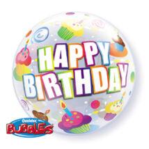 22 inch-es Birthday Colourful Cupcakes - Süteményes Születésnapi Bubble Léggömb