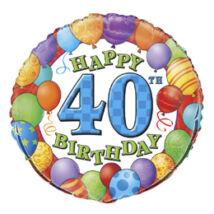 18 inch-es 40th Birthday Balloons - Léggömbös 40. Szülinap Születésnapi Számos Fólia Léggömb