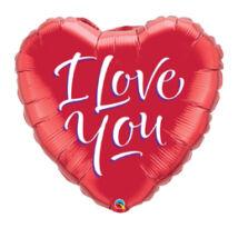 18 inch-es I Love You Script (Feliratos) Modern Szerelmes Fólia Léggömb