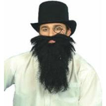 Fekete hosszú szakáll és bajusz
