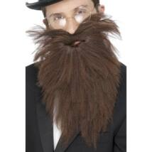 Barna hosszú szakáll és bajusz