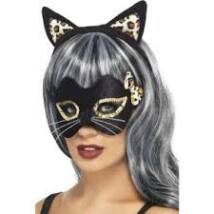 Fekete cica fül és szemmaszk szett